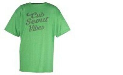 9aafcdc9 Cub Scouts Green Vibes Youth Size Medium 10-12 Tee T Shirt Boys & Girls