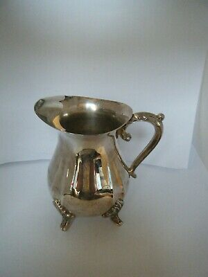 Viners  Vintage Silver Plated Milk Cream Jug  12 cm high with strainer