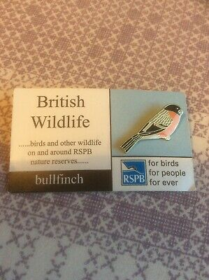 RSPB Pin Badge Bullfinch