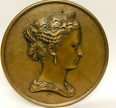 Antique Victorian Lady Sculpture by Bronze Casting Co.Metallic Compress MA