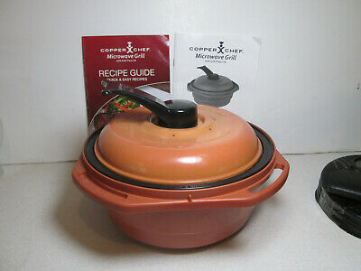 Copper Chef Microwave Grill With Press Lid And Accessories Color