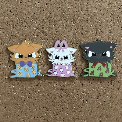 Disney The Aristocats Toulouse, Marie, Berlioz Set of 3 Fantasy Pins