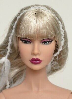 """Poppy Parker Split Decision Silver Hair NUDE 12"""" DOLL Fashion Royalty NEW"""
