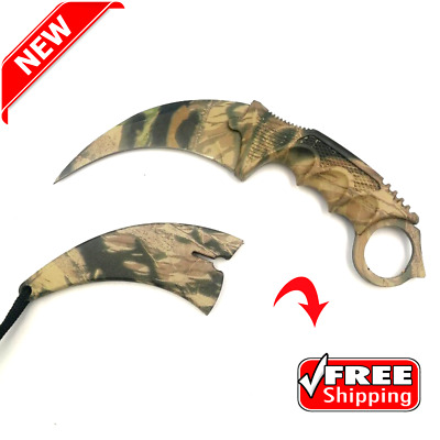 Stainless Steel Fixed Blade Karambit Knife Survival Camping Hunting Outdoor ARMY