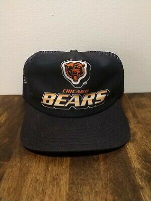 Vintage 80's New Era NFL Chicago Bears Snapback Trucker Hat Cap USA Never Worn