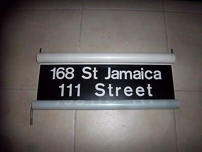 IND R10 NYC Subway Sign Jamaica 179 Street Vellum Collectible Old Ny