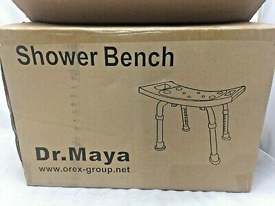 """Transfer Benches Dr. Maya Adjustable And Chair Shower Bench Size 17"""" x 11"""" A3"""