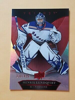 2018-19 Upper Deck Trilogy Red Foil Parallel #15 Henrik Lundqvist #/425