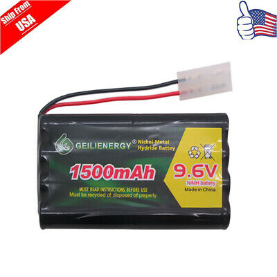 1pcs 9.6V 1500mAh Rechargeable Battery Pack For RC Remote Radio Control USA