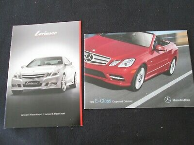 2012 Mercedes Benz E-class Coupe & Cabriolet Catalog E350 E550 Conv US Brochure
