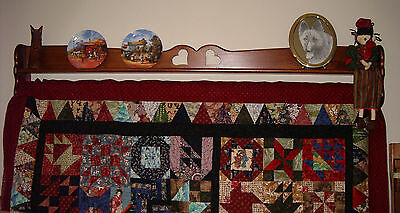 "68"" Quilt Hanger Holder Wooden Hanger Rack Wall Floor Quilting Sewing"