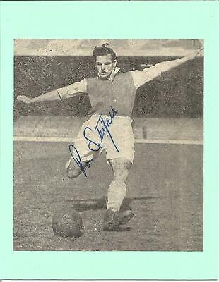 Football Autograph Ron Stitfall Signed Newspaper Photograph & Bio Sheet F292