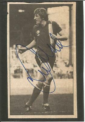 Football Autograph Ronnie Moore Signed Newspaper Photograph & Bio Sheet F302