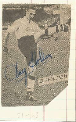 Football Autograph Doug Holden Bolton Wanderers Signed Newspaper Picture F1092