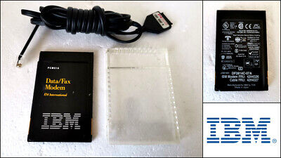 Genuine IBM DF2814C-07A PCMCIA Data Fax Modem Card with Cable