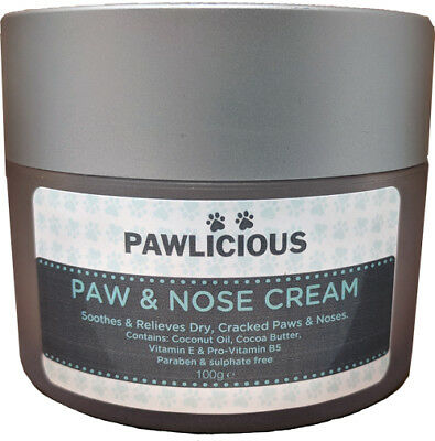 100g Paw & Nose Cream For Dogs Cats & Other Animals Use On All Dry Skin, Elbows