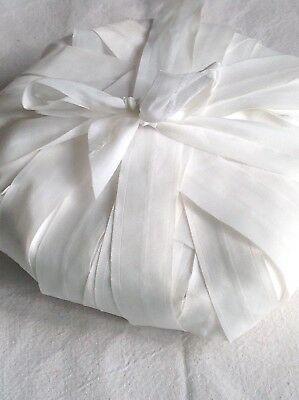 Vintage White Tape French Organza Ribbon Vintage Wedding Millinery 400 cm Sheer