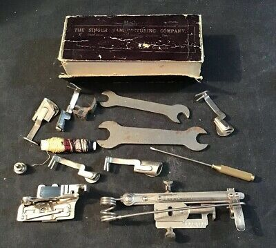 Singer Sewing Machine Spares And Tools From The 1890's