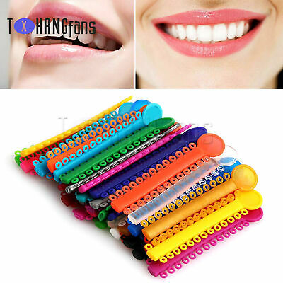 1040pcs Dental Orthodontic Ligature Ties Elastic Braces Rubber Bands colorfulATF