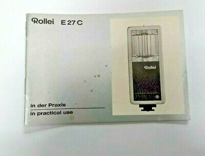 Rollei E27C In Practical Use Manual Instruction Book Genuine