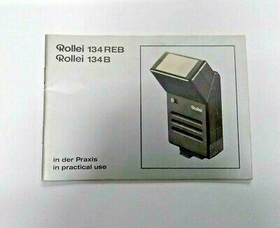 Rollei 134REB 134B In Practical Use Manual, Instruction Book Genuine Original
