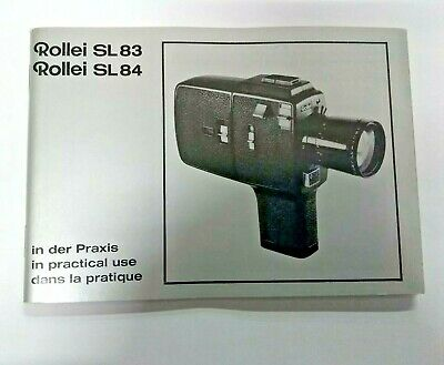 Rollei SL83 SL84 In Practical Use Manual, Instruction Book Genuine Original