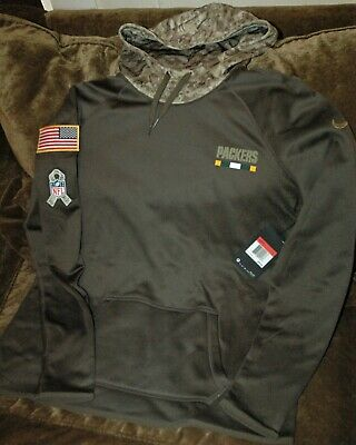 buy popular 7ef73 18542 GREEN BAY PACKERS Salute to Service Hoodie 2016 Nike STS XL ...