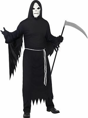 Adult Grim Reaper Death Mens Halloween Horror Party Fancy Dress Costume Outfit