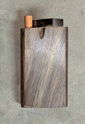 (1) NEW Rosewood Wood Dugout w/ Hitter Bat, One Hitter Tobacco Smoking Box