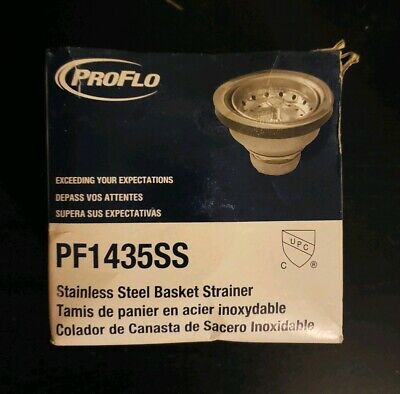 Lot 4 Proflo Pf1435ss Kitchen Stainless Sink Drain Assembly