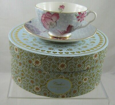 Wedgwood Cuckoo Tea Story Cup & Saucer Blue / Boxed