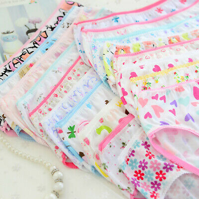 6pcs Fashion Baby Kids Girls Floral Underwear Soft Cotton Panties Short Briefs