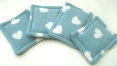 4 blue heart  wee pads pee pads drip pads guinea pig bed cage liner
