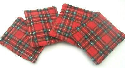4 red tartan wee pads pee pads drip pads guinea pig bed cage liner