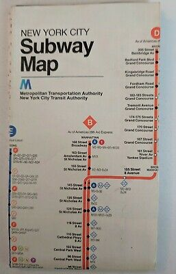 1958 New York Subway Map.Vintage Official 1958 Nyc New York Subway Map And Guide 7 38
