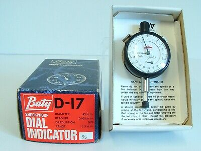 BATY & Co (England) D-17 Shockproof Dial Indicator Reading-0.002mm UNUSED/BOXED