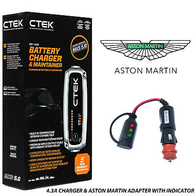 Aston Martin DB AR1 Roadster Battery Charger 4.3A - 7A & Custom Adapter