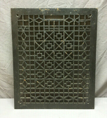 Antique Cold Air Return Cast Iron Geometric Design Grate 21x18 321-19L