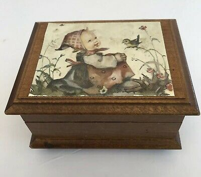 Vintage Reuge Wooden Music Box Swiss Musical Movement My Lady Greensleeves