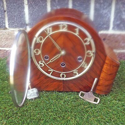 Art Deco Haller Westminster Chime Clock - 8 Day German - Working Order Chimes