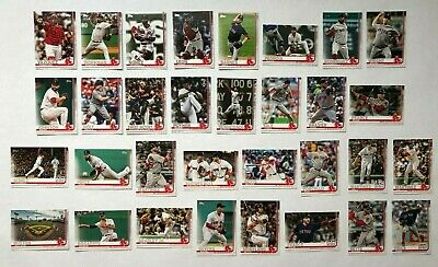 Boston Red Sox 2019 Topps Series 1 & 2 Base Team Set *32 cards* Mookie Betts