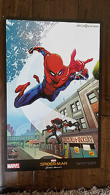 2017 Sdcc Comic Con Exclusive Marvel Spider-Man Homecoming Promo Poster