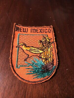 Vintage New Mexico Patch Souvenir Travel Camping Clothing Embroidered
