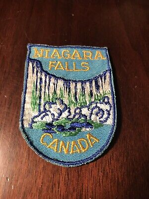 VTG Niagara Falls Canada Patch Souvenir Travel Camping Clothing Embroidered