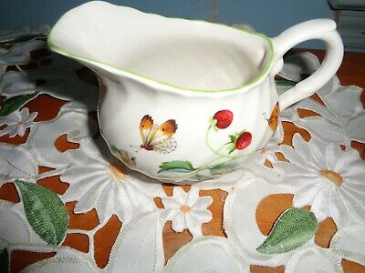 Vintage James Kent Old Foley Creamer Strawberry Pattern
