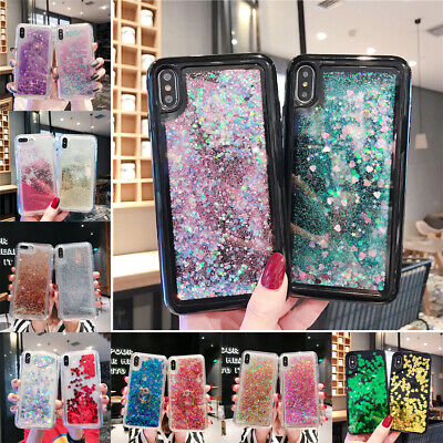 For iPhone XS Max XR X 8 7 6s Plus Glitter Liquid Quicksand Soft TPU Case Cover