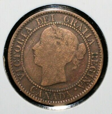 1859 Canada One Penny ?Questionalble Narrow 9? - 03742