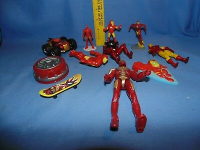 IRON MAN Toy lot - car figure bath PVC arc reactor - Marvel Comics Avengers