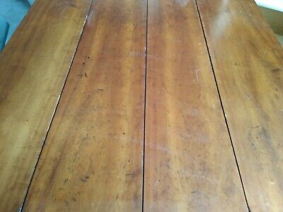 Antique Early Cherry Drop Leaf Spindle Legs Table/Console Dining/Sofa - Vintage