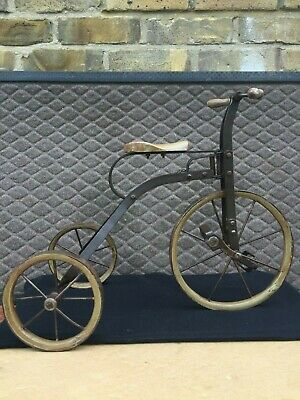 Vintage Tricycle - Solid Iron - Large Cycle/Bicycle Figurine - Home Decoration